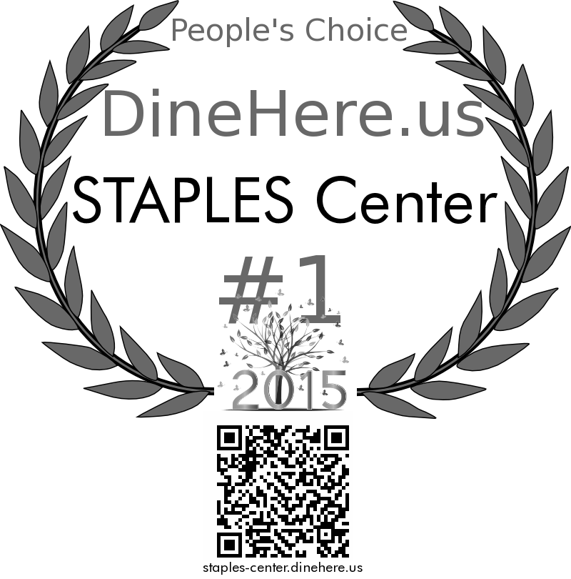STAPLES Center DineHere.us 2015 Award Winner